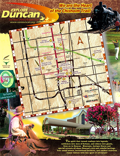 Visit Duncan OK Tear-off Map Brochure 2017 Cover