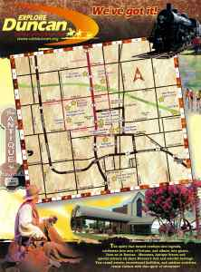 Visit Duncan OK Tear-off Map Brochure 2015 Cover
